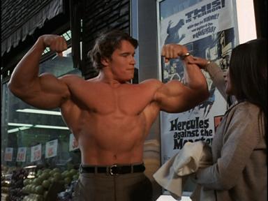 Arnold as petulant Hercules