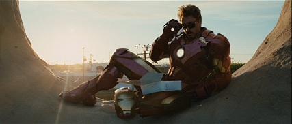 See! Iron Man eating donuts!